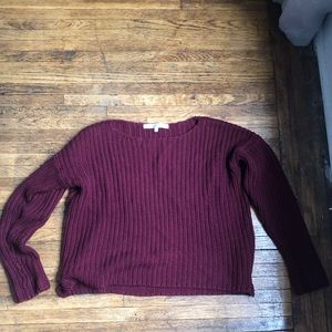 Lovers & Friends maroon sweater size small